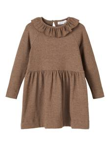 Bilde av Name it, Nmfbalina brun ribbet kjole